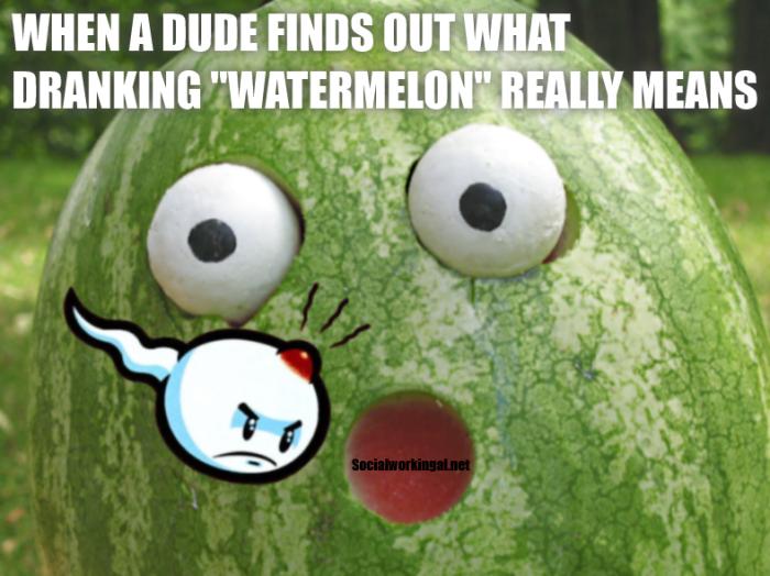 Dranking Watermelon